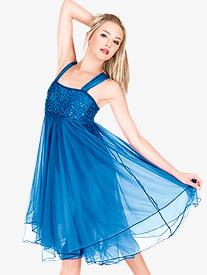 Adult Sequin Bodice Chiffon Dress