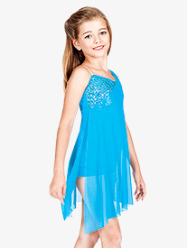 Child Lyrical Dress with Attached Shorty Unitard