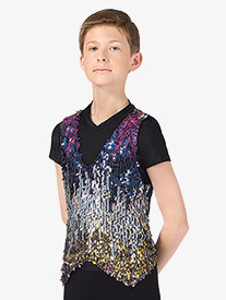 Mens Sequin Vest