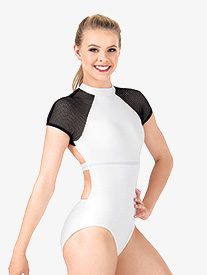 Womens Mesh Short Sleeve Leotard