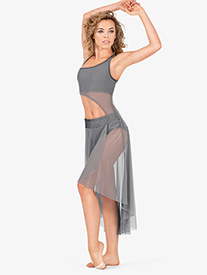 Adult 2-Piece Asymmetrical Dress