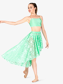 Adult Emballe Lace High-Low Skirt