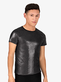 Mens Metallic Short Sleeve Shirt