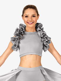 Adult Satin Ruffle Shrug