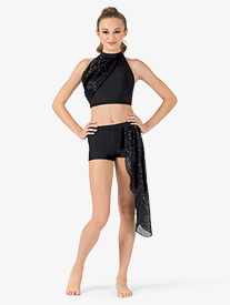 Adult Sequin Drape Jazz Shorts