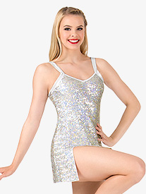 Womens Sequin Tank Performance Dress Set