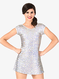 Womens Sequin Cap Sleeve Performance Dress Set