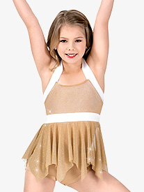 Girls Glitter Mesh 2-Piece Performance Set