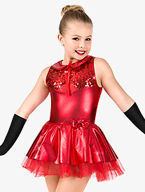 Girls Metallic Tank Performance Tutu Dress