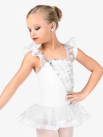 Girls Flutter Sleeve Performance Tutu Dress