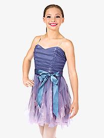 Girls Camisole Spiral Dress Set