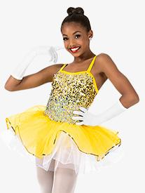 Girls Ombre Sequin Camisole Performance Tutu Dress