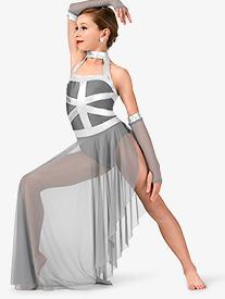 Girls Asymmetrical Tank Performance Dress Set