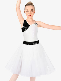 Girls One Shoulder Romantic Tutu Costume Dress
