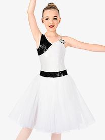 Girls One Shoulder Romantic Tutu Costume Dress