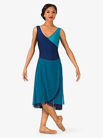 Womens Two-Toned Tank Lyrical Dress