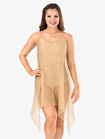 Womens Glitter Mesh Camisole Performance Dress