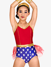 Girls Shorty Unitard Superhero Set