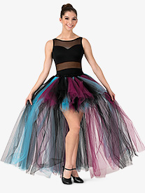 Womens High-Low Mesh Tutu Skirt