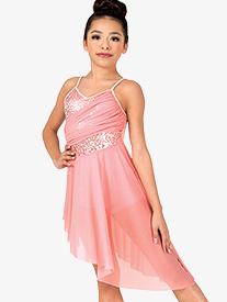 Girls Performance Camisole Asymmetrical Dress