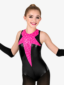 Girls Performance Sequin Star Tank Leotard