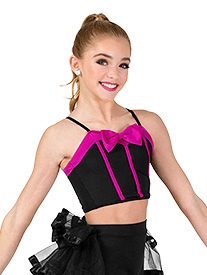 Womens Bra Top and Bustled Shorts Dance Costume Set