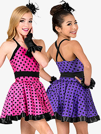 Girls Performance Polka Dot Tank Dress