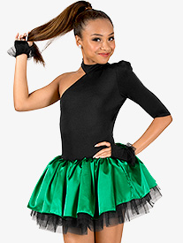 Womens Performance Two-Tone Asymmetrical Tutu Dress