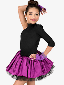 Girls Performance Two-Tone Asymmetrical Tutu Dress