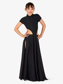 Girls Performance Side Cutout Cap Sleeve Dress