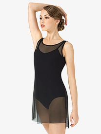Adult Short Mesh Tank Lyrical Dress
