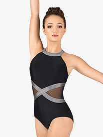 Womens Performance Side Mesh Tank Leotard