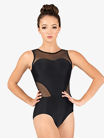 Womens Performance Sweetheart Mesh Tank Leotard