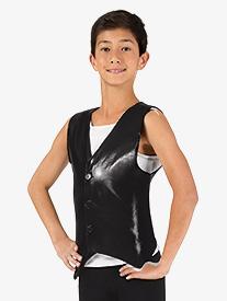 Boys Button Down Performance Vest