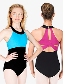 Adult Color Block Tank Leotard