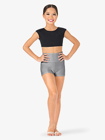 Child High Waist Dance Shorts