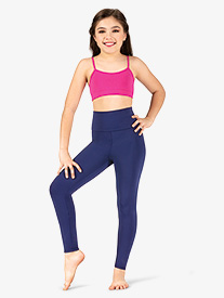 Girls Matte High Waist Dance Leggings