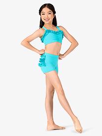 Child Lace Ruffle Dance Shorts