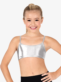 Child Metallic Camisole Bra Top