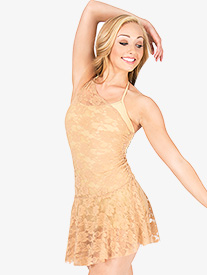 Adult Asymmetrical Lace Overdress