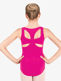Girls Tank Leotard with Cut Out Back