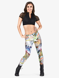 Adult Abstract Swirl Leggings