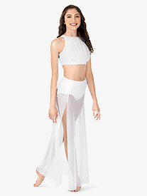 Adult Gathered Long Mesh Lyrical Skirt