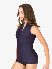 Adult Deep V-Back Tank Shorty Unitard