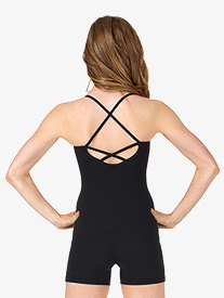 Adult Criss-Cross Back Camisole Shorty Unitard