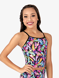 Girls Feather Long Active Camisole Top