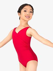 Girls Vintage Wrap Front Tank Leotard