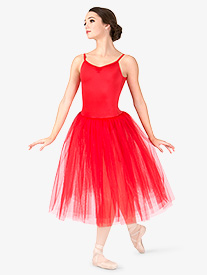 Womens Romantic Length 3-Layer Ballet Tutu Dress