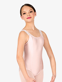 Girls Lace Insert Tank Leotard