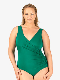Adult Curvy Fit Plus Mock Wrap Tank Leotard